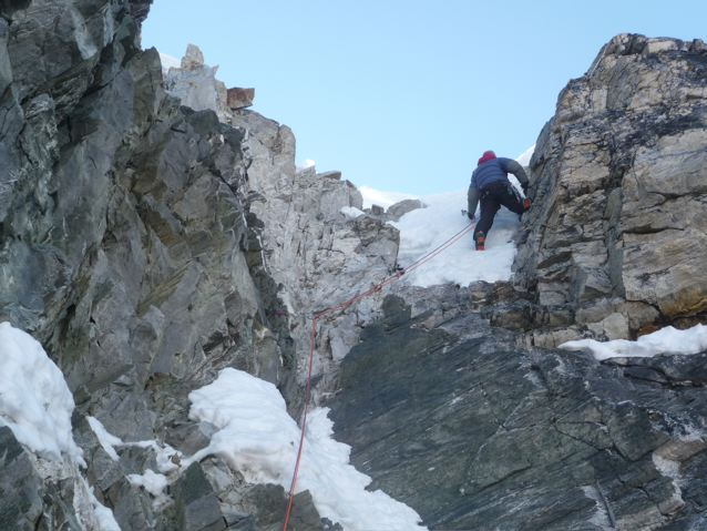 """""""topping out"""" at 5880m"""
