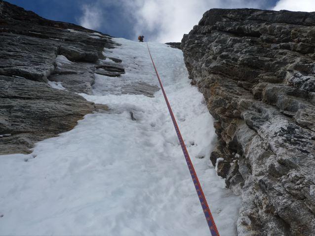 descending the climbing route